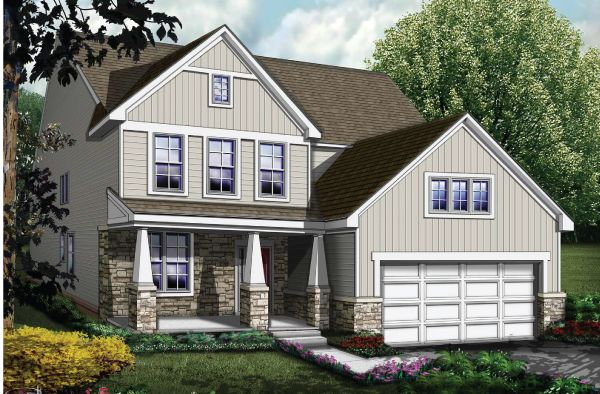 Exterior featured in The Washington By Echelon Homes in Ann Arbor, MI