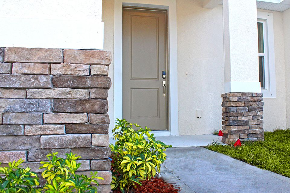 Exterior featured in the Calabria By EcoSun Homes in Melbourne, FL