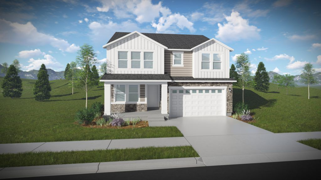 Exterior featured in the Nathan - Two Story By EDGEhomes in Salt Lake City-Ogden, UT
