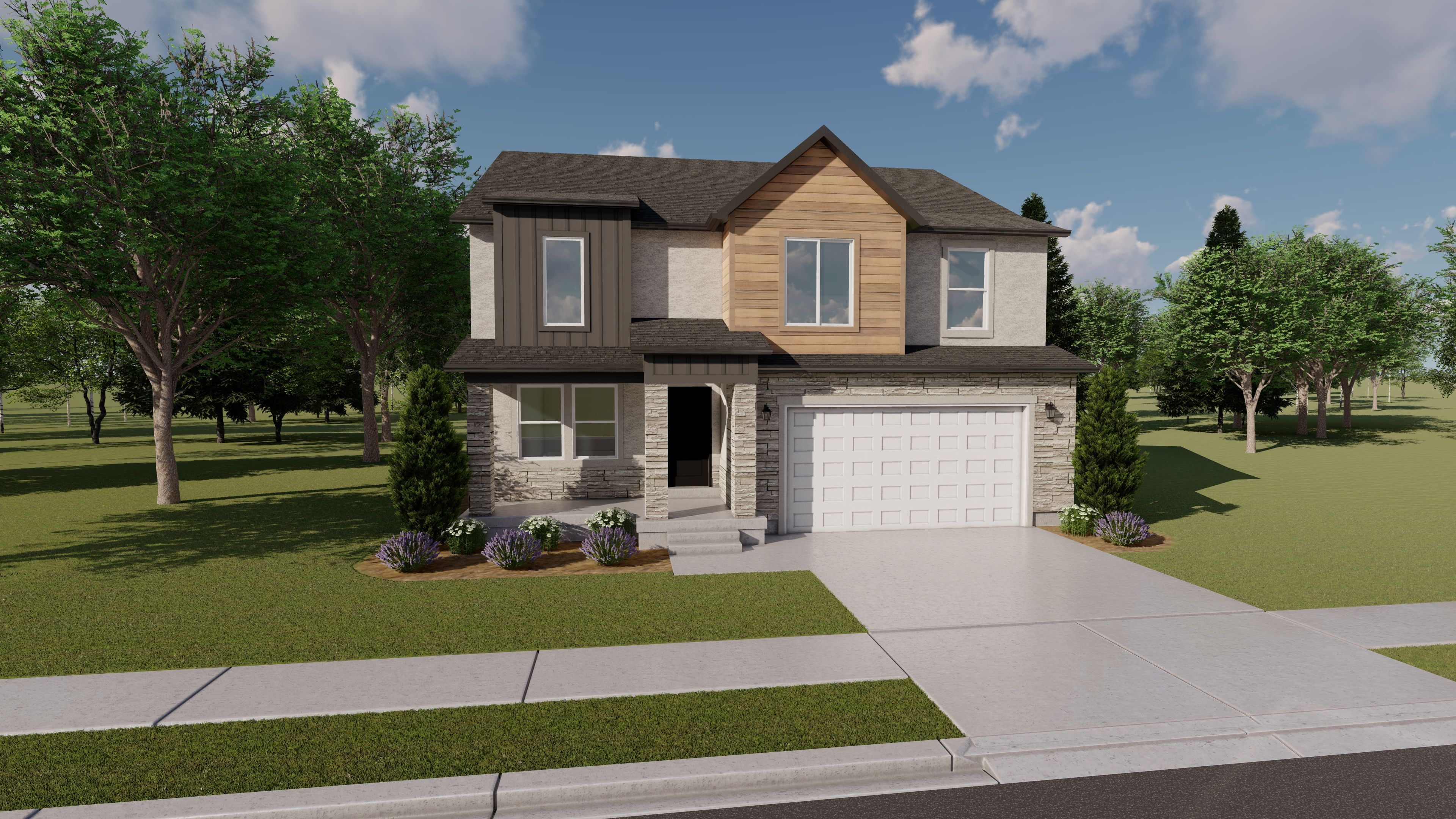 Exterior featured in the Morgan - Two Story By EDGEhomes in Provo-Orem, UT