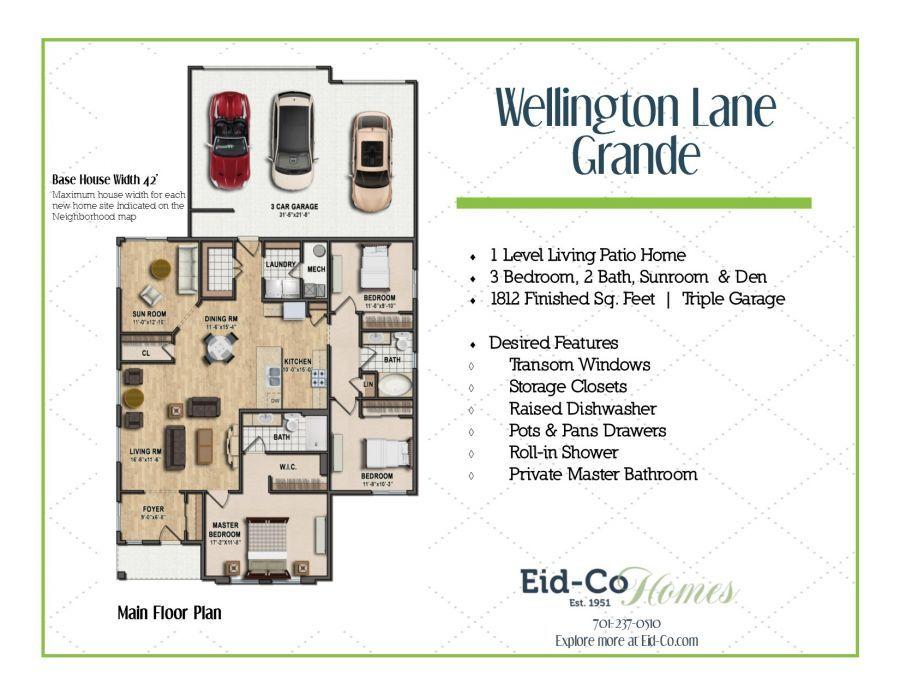 Bedroom featured in The Grande Wellington By Eid-Co in Fargo, ND