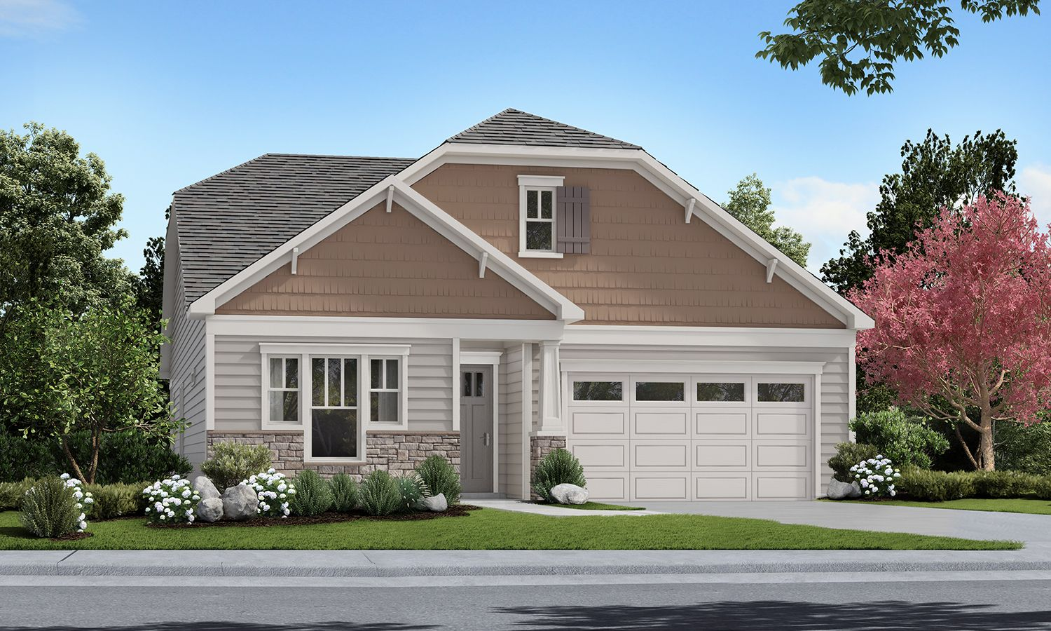 Exterior featured in The Virtuoso By Elevate Homes in Raleigh-Durham-Chapel Hill, NC