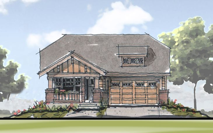 Signature Point Craftsman Avondale Front Elevation A