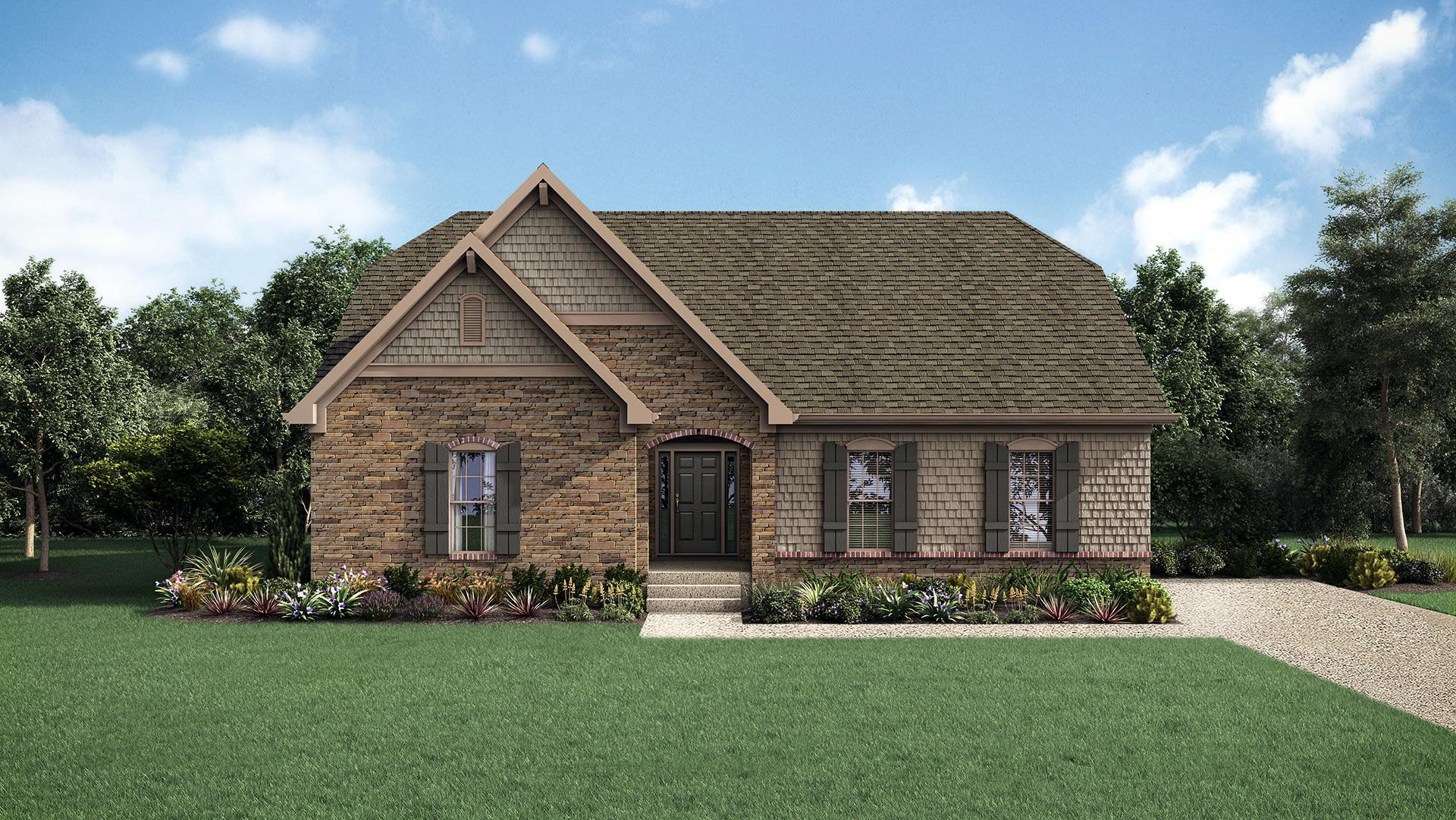 Exterior featured in The Brandywine By Elite Built Homes LLC in Louisville, KY