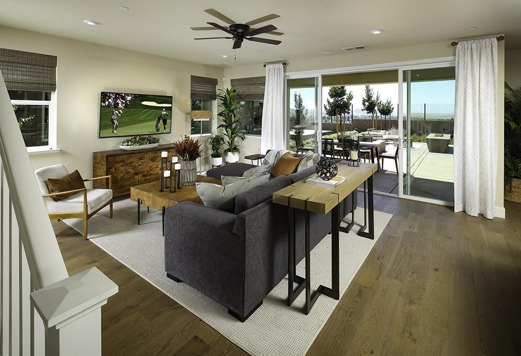 Living Area featured in the Plan 2296 By Elliott Homes in Sacramento, CA