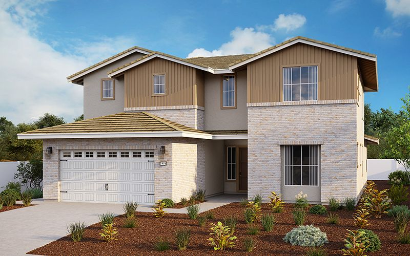 Exterior featured in the Plan 2976 By Elliott Homes in Sacramento, CA