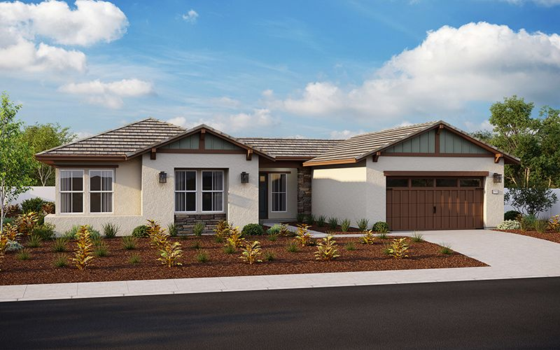 Exterior featured in the Plan 2704 By Elliott Homes in Sacramento, CA