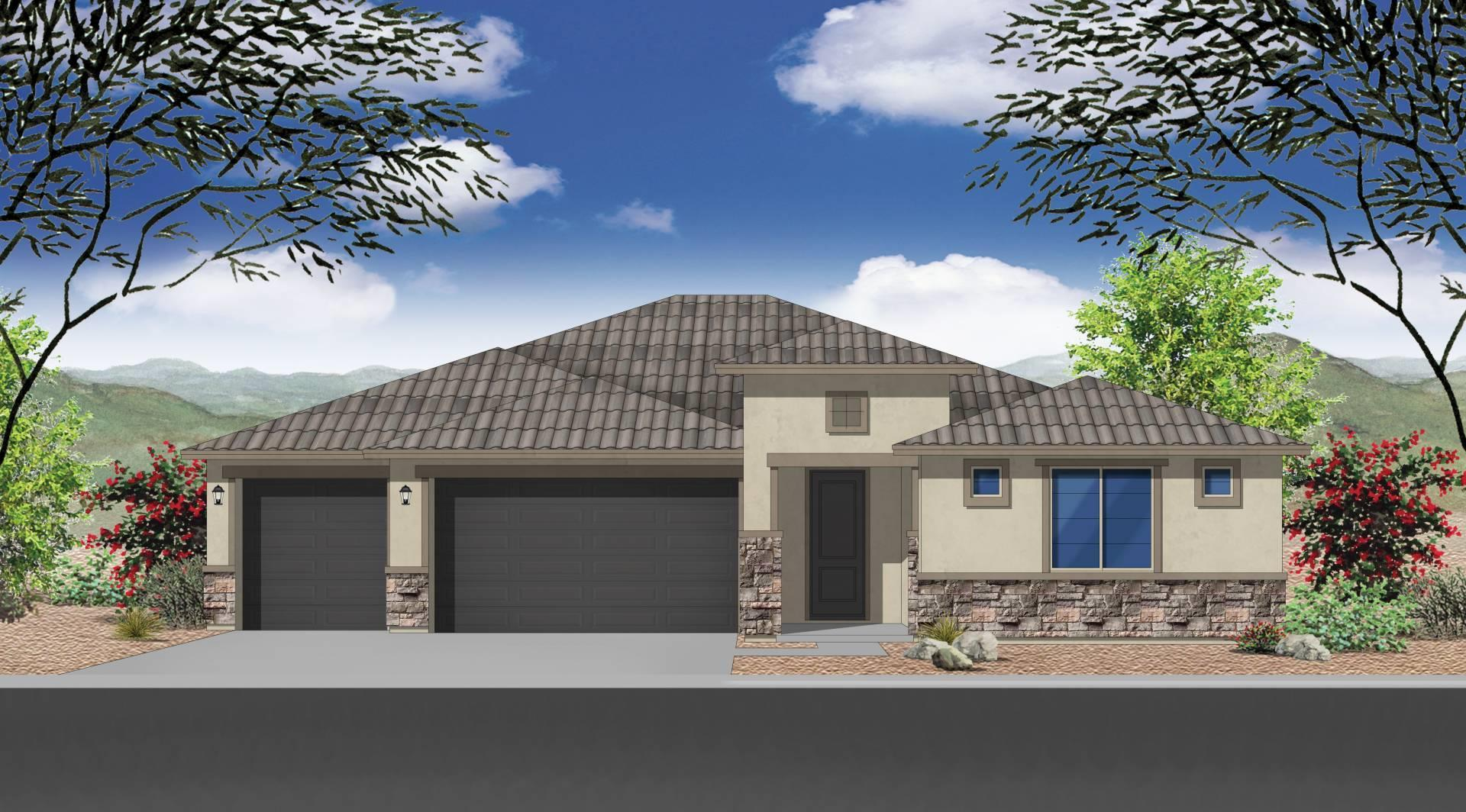 Exterior featured in the Plan 2121 By Elliott Homes - Arizona in Yuma, AZ