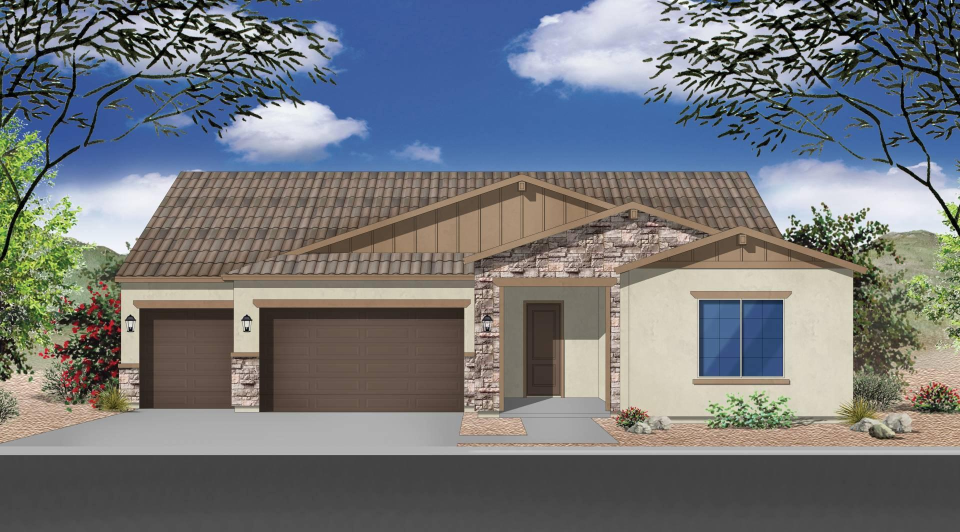 Exterior featured in the Plan 2496 By Elliott Homes - Arizona in Yuma, AZ