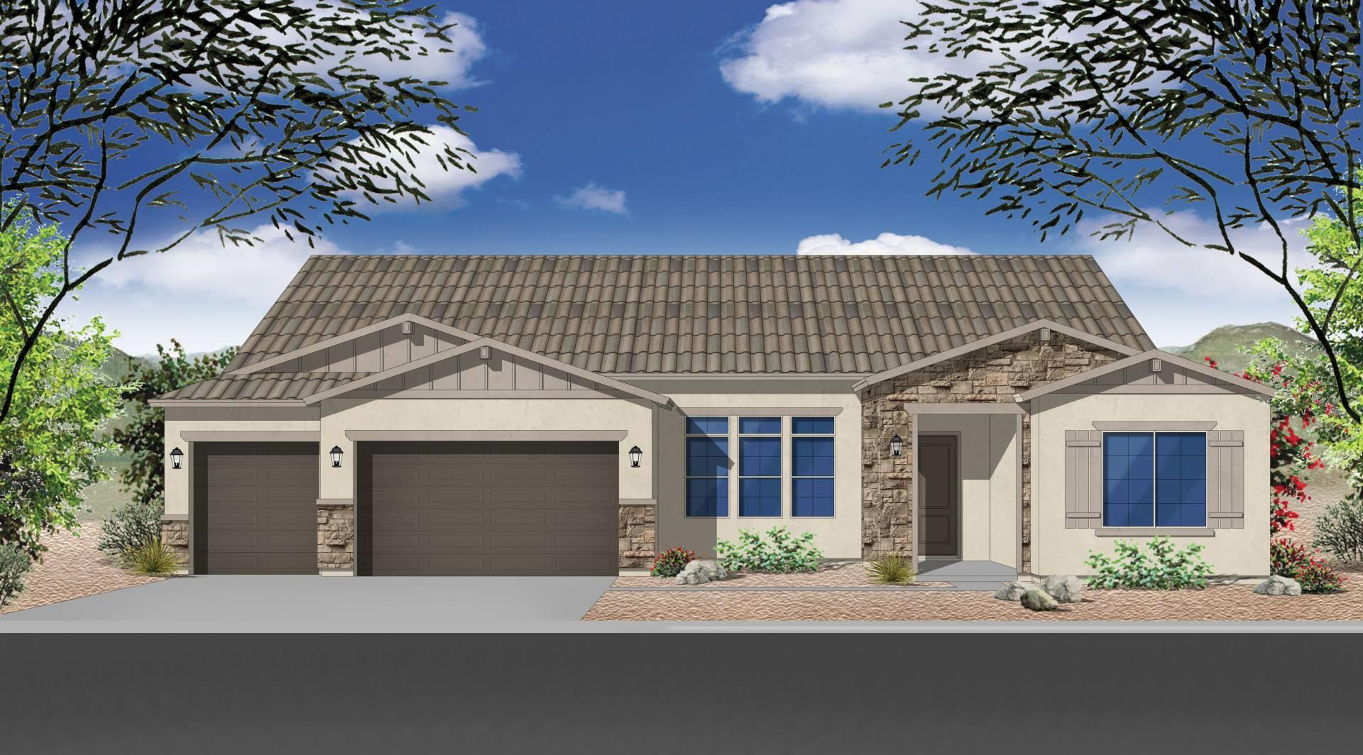 Exterior featured in the Plan 2858 By Elliott Homes - Arizona in Yuma, AZ