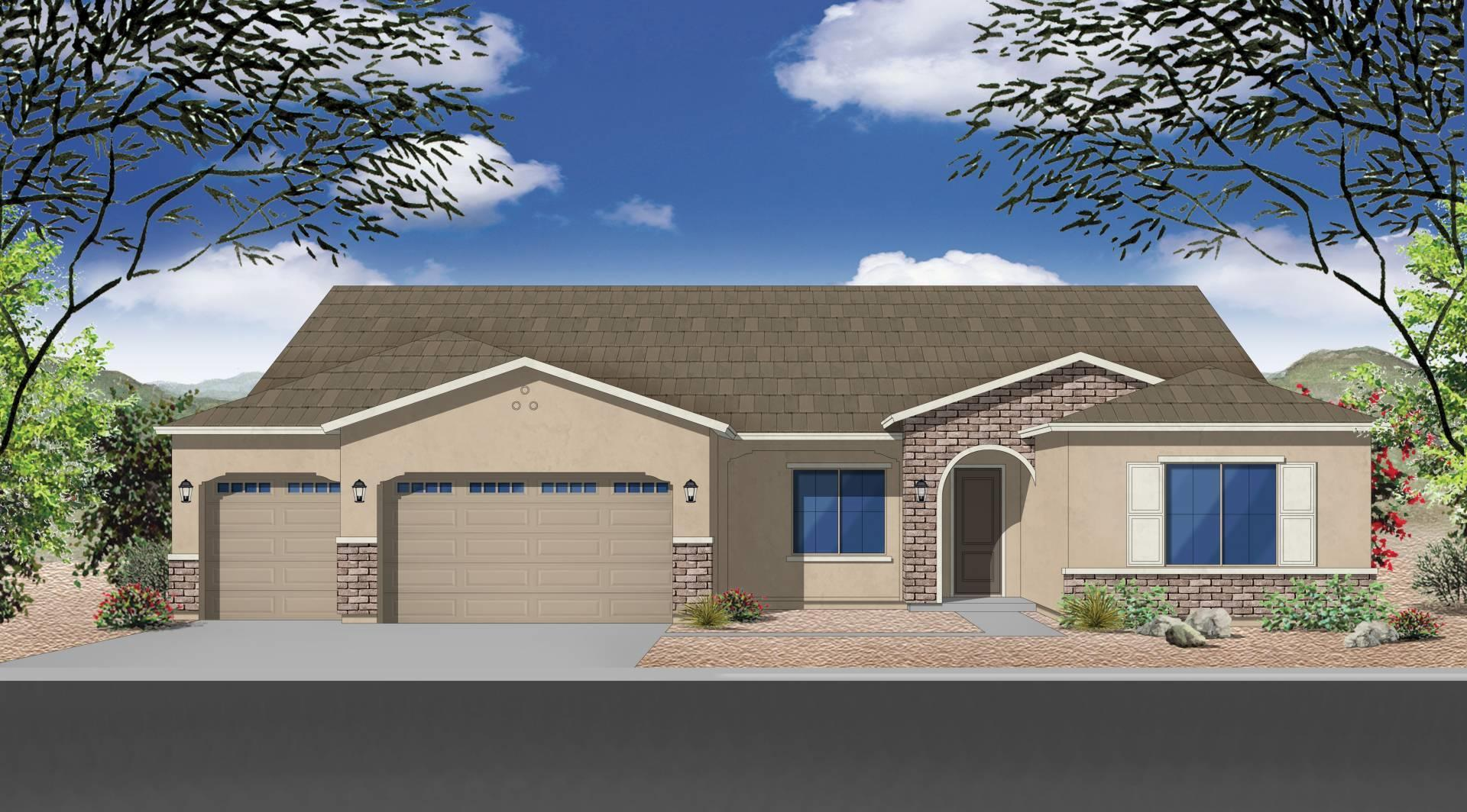 Exterior featured in the Plan 2929 By Elliott Homes - Arizona in Yuma, AZ