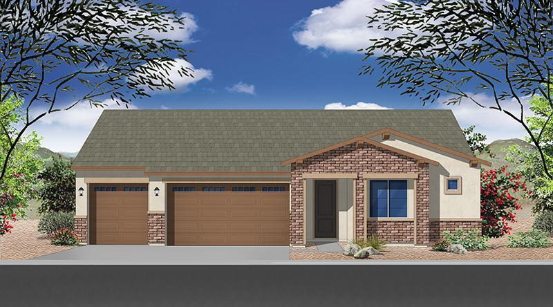 Exterior featured in the Plan 1846 By Elliott Homes - Arizona in Yuma, AZ