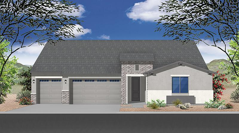 Exterior featured in the Plan 2342 By Elliott Homes - Arizona in Yuma, AZ