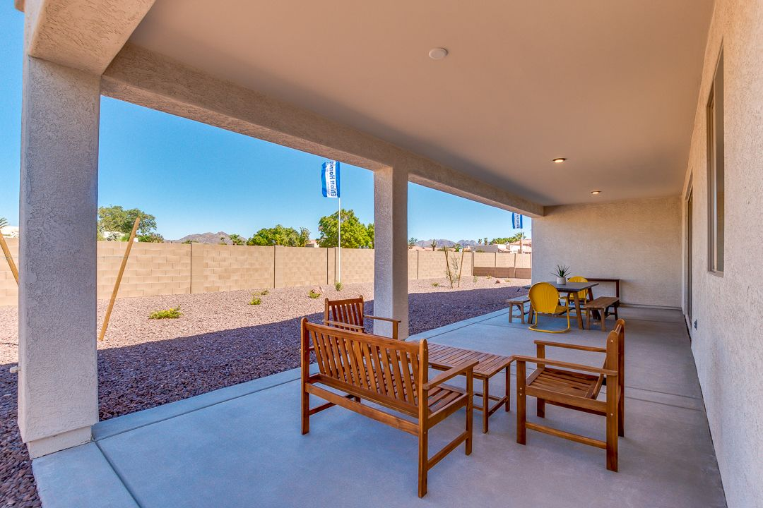 Exterior featured in the Plan 1846 By Elliott Homes in Yuma, AZ