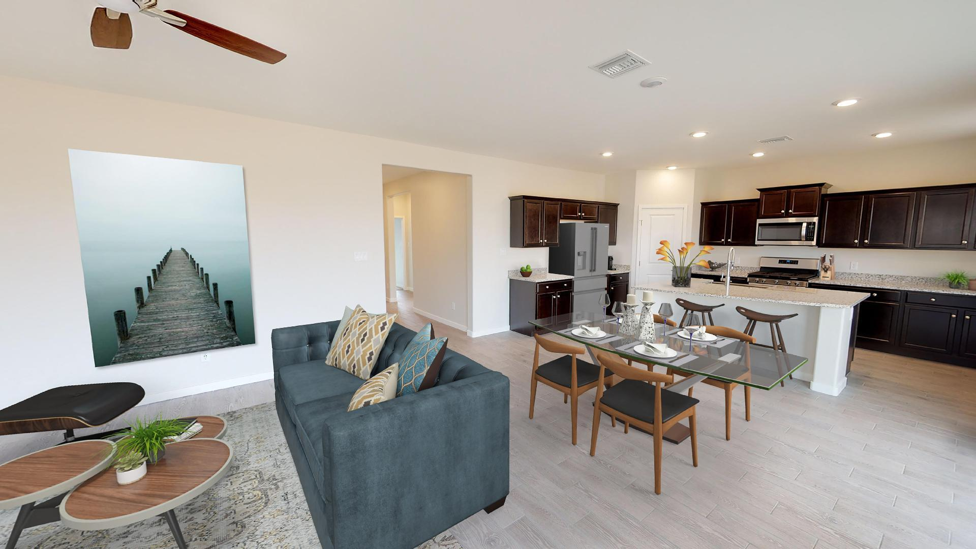 Living Area featured in the Plan 1577 By Elliott Homes in Yuma, AZ
