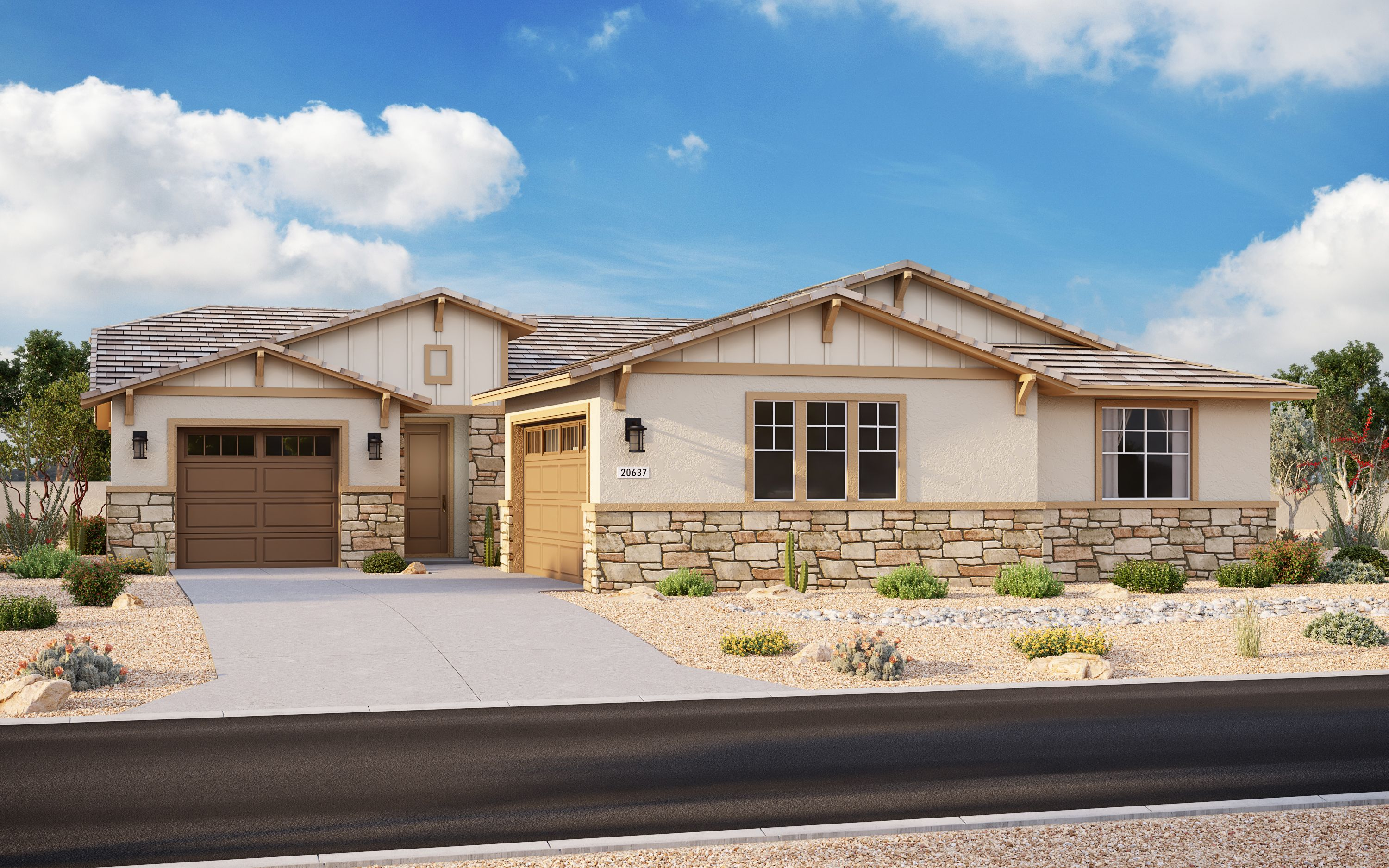 Exterior featured in the Plan 3101 By Elliott Homes in Yuma, AZ
