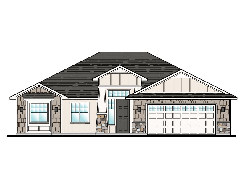 Exterior featured in the Elmwood Plan 1528 By Ence Homes in St. George, UT