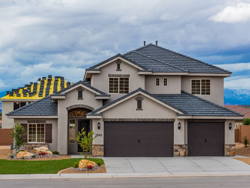 Exterior featured in the Red Waters Plan 3300 By Ence Homes in St. George, UT