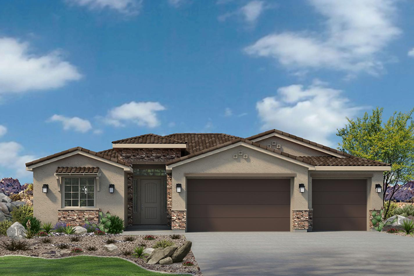 Exterior featured in the Sentieri Canyon Plan 2004 By Ence Homes in St. George, UT