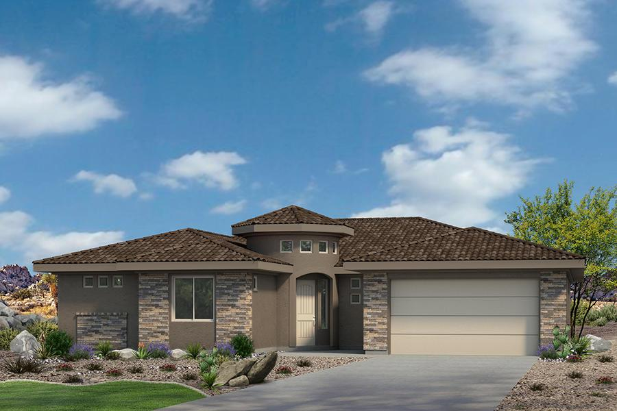 Exterior featured in the Sentieri Canyon Plan 2184 By Ence Homes in St. George, UT