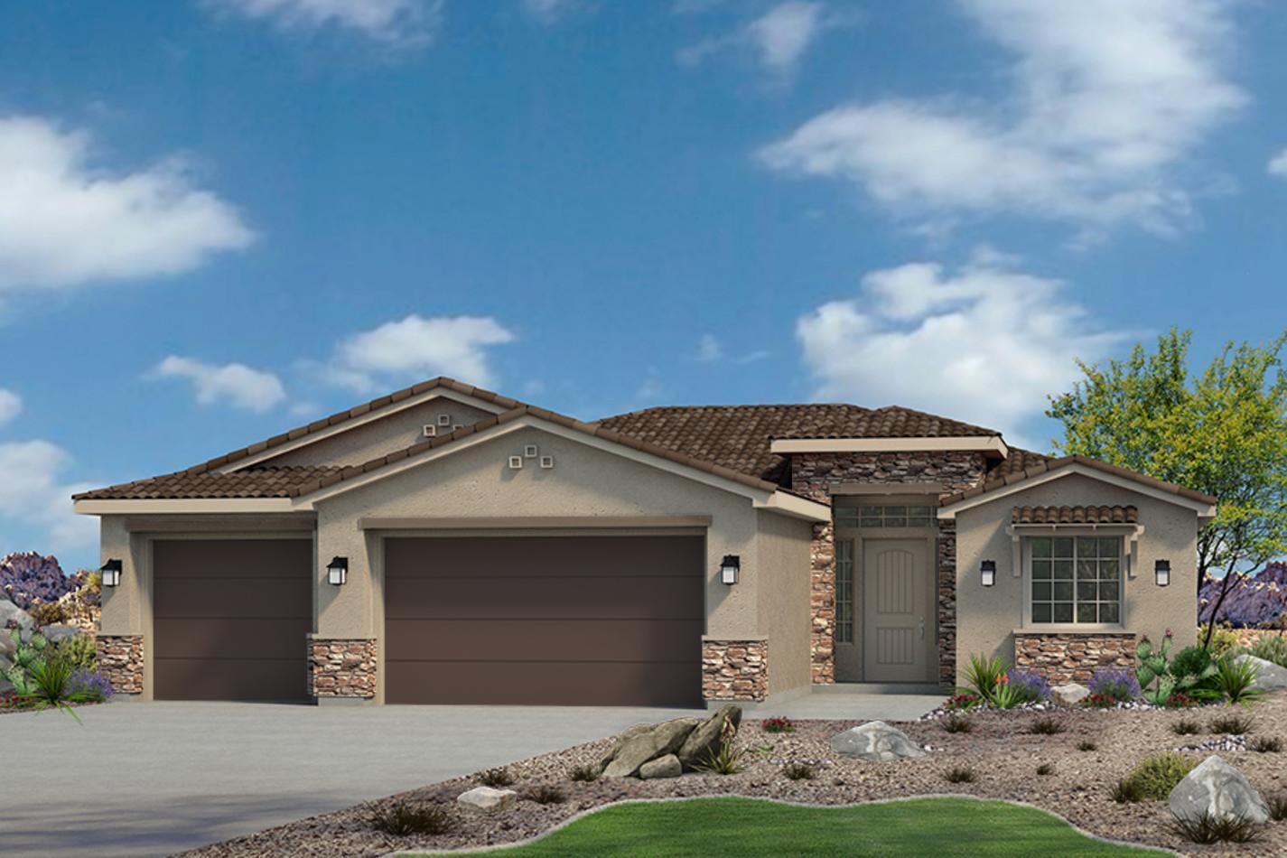 Exterior featured in the Sentieri Canyon Plan 1887 By Ence Homes in St. George, UT