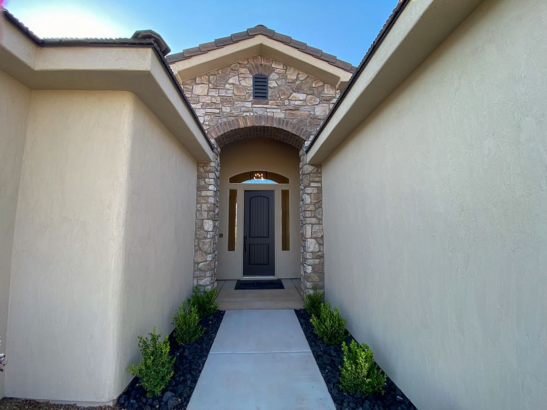 Exterior featured in the Ocotillo Estates Plan 2592 By Ence Homes in St. George, UT