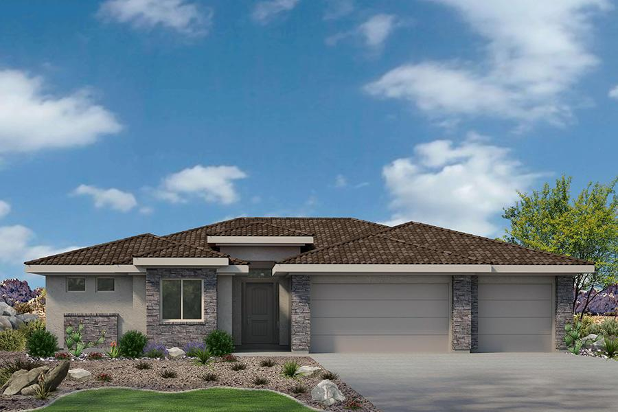 Exterior featured in the Varano Vistas Plan 2384 By Ence Homes in St. George, UT