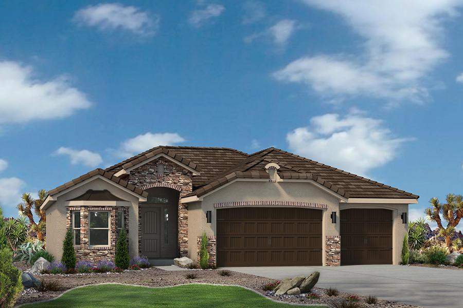 Exterior featured in the Varano Vistas Plan 1760 By Ence Homes in St. George, UT
