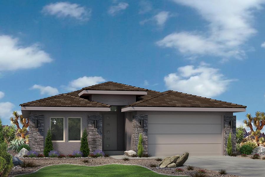 Exterior featured in the Varano Vistas Plan 1590 By Ence Homes in St. George, UT