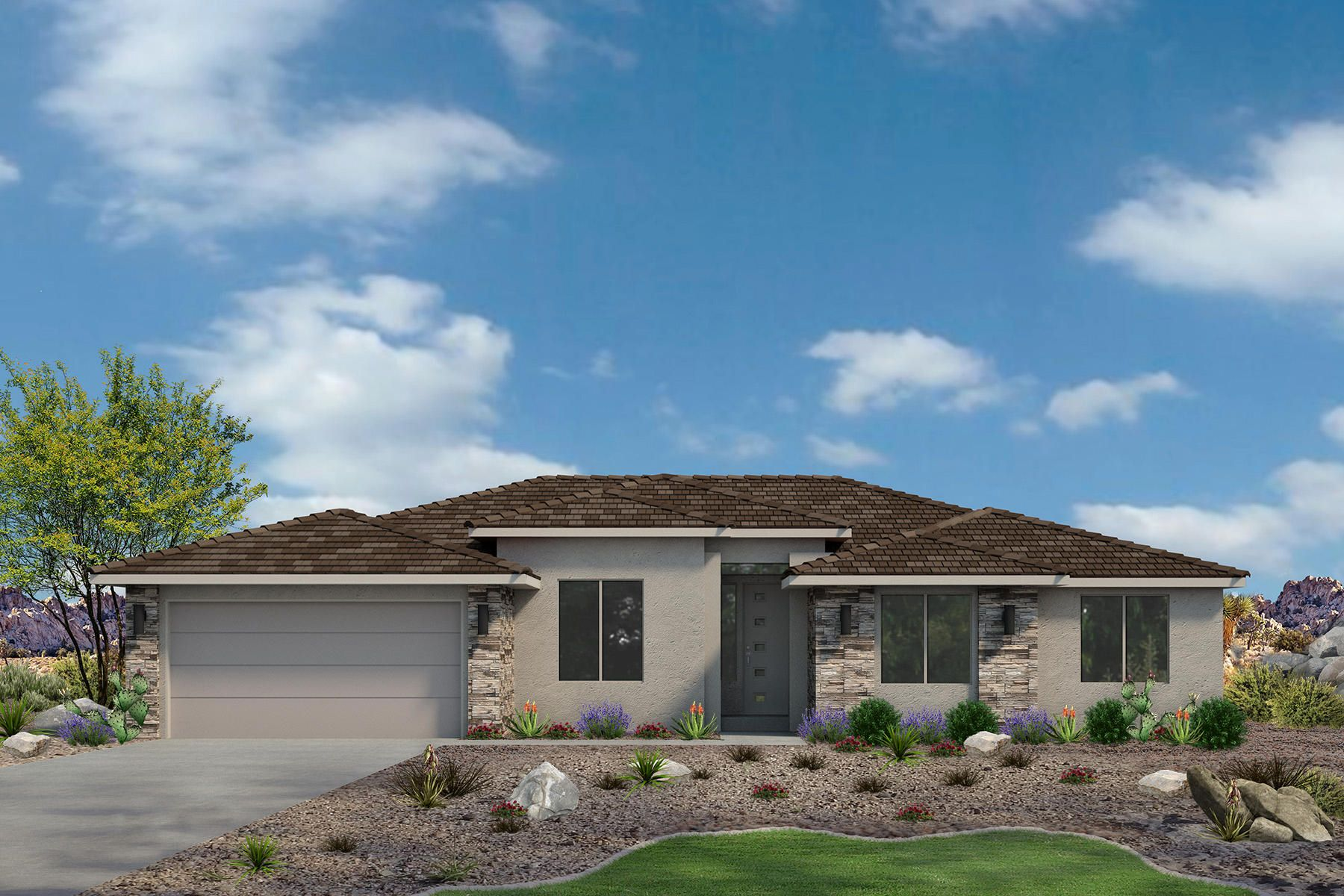 Exterior featured in the Sand Ridge Plan 2218 By Ence Homes in St. George, UT