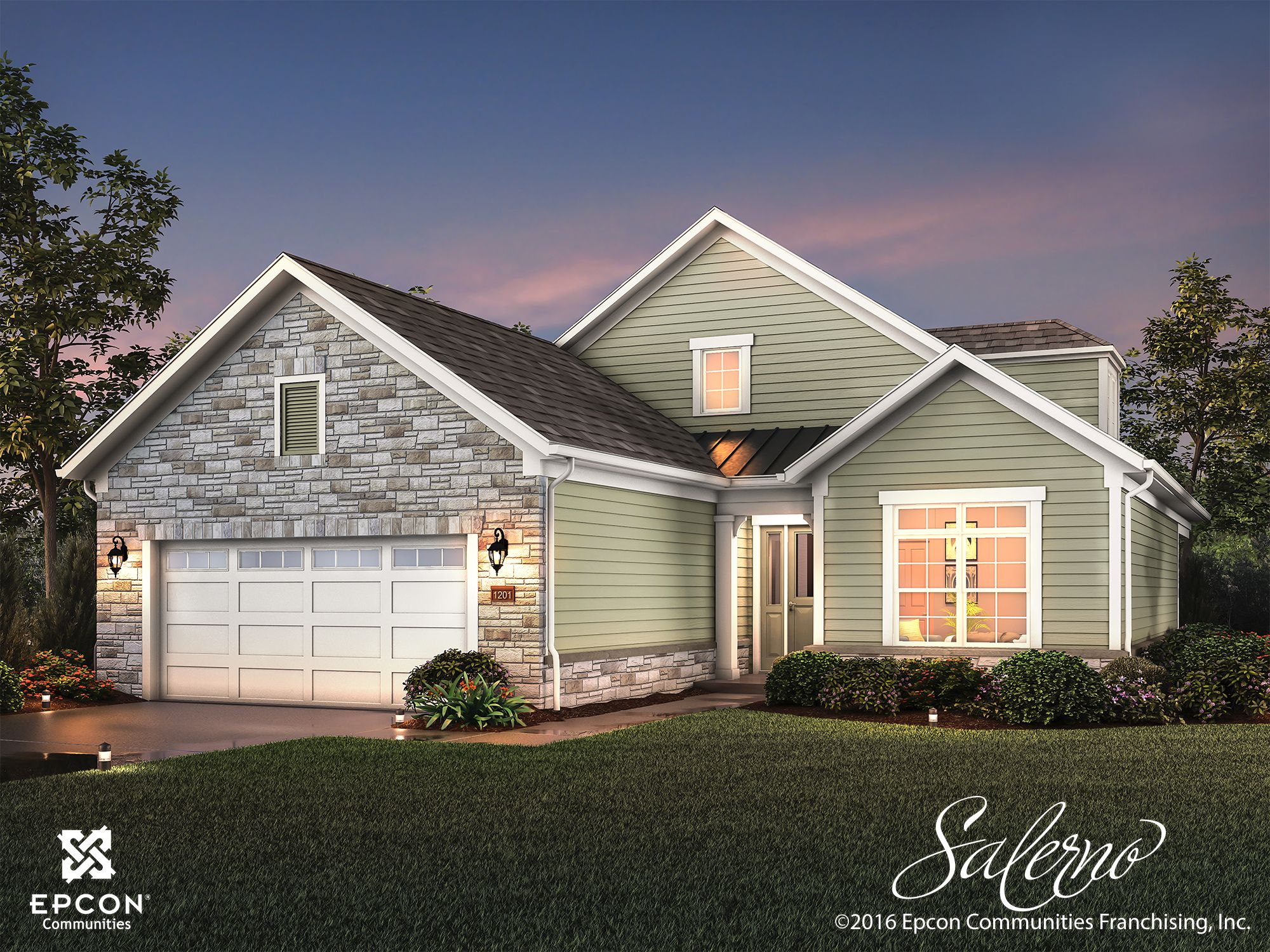Exterior featured in the Salerno By Epcon Homes and Communities in Sandusky, OH