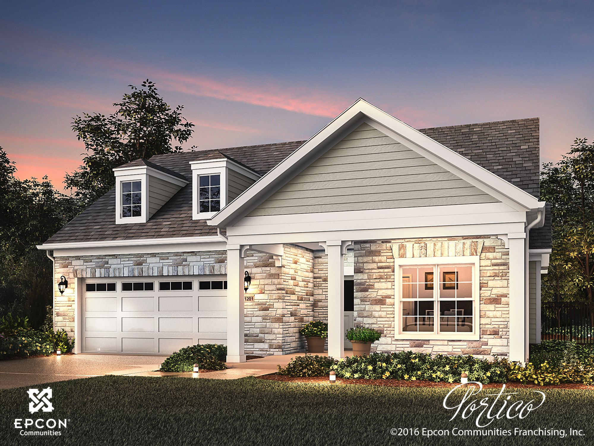 Exterior featured in the Portico By Epcon Homes and Communities in Sandusky, OH