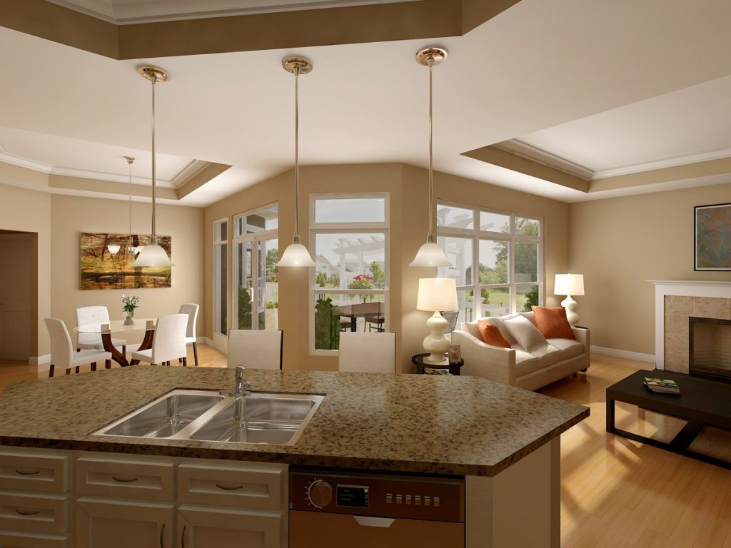 Living Area featured in the Portico By Epcon Homes and Communities in Cincinnati, OH