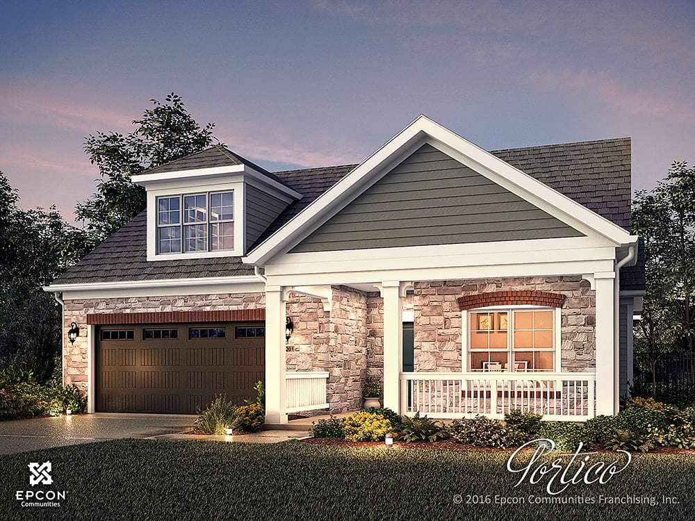 Exterior featured in the Portico By Epcon Communities in Charlotte, NC