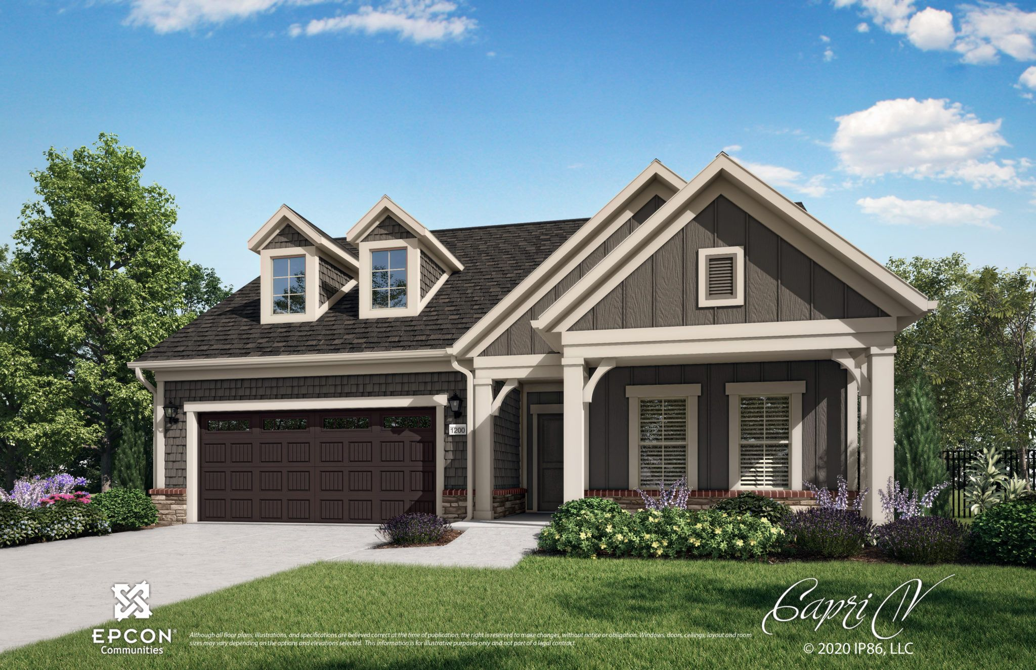 Exterior featured in the Capri By Epcon Communities in Charlotte, NC