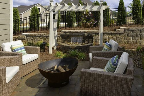 Patio-in-Portico-at-Fairway Estates at Catawba Island Club-in-Port Clinton