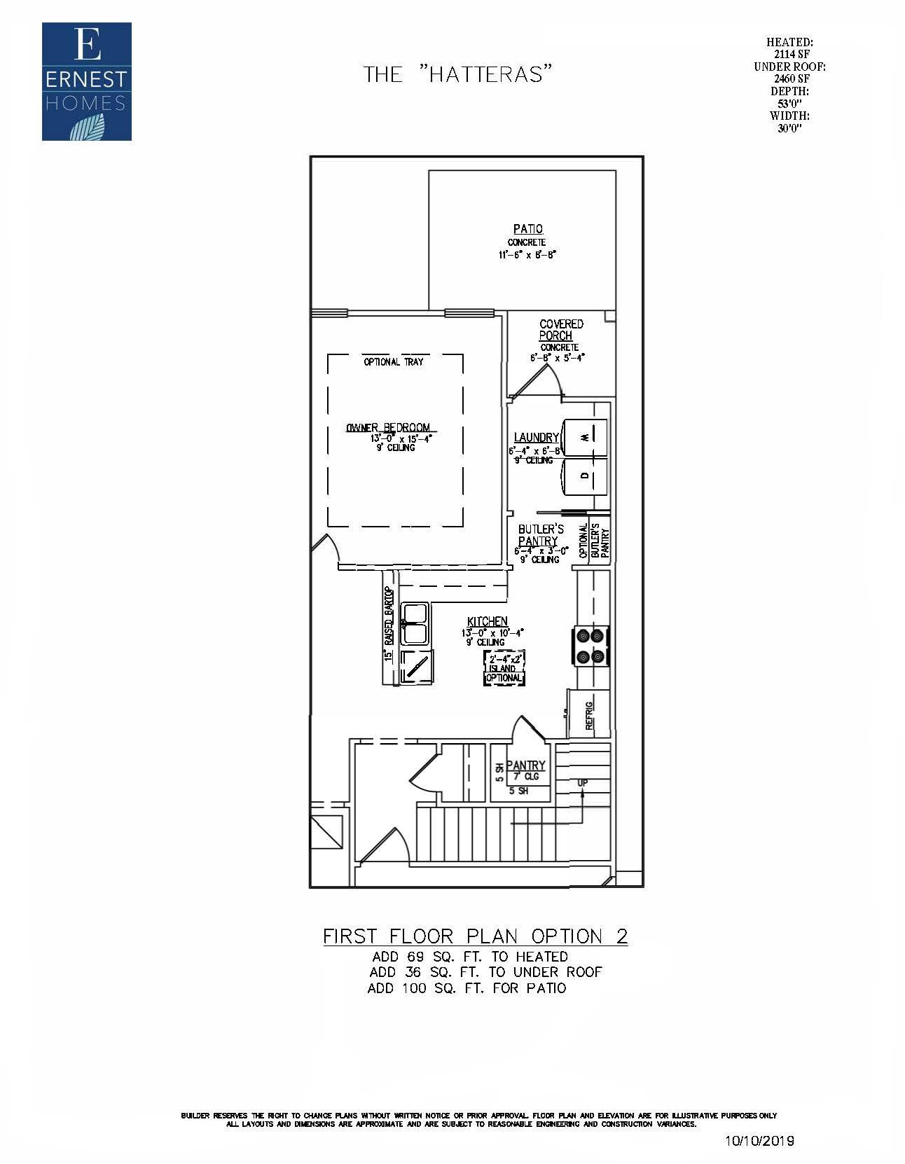 Hatteras Plan At Dunham Marsh The Villas In Richmond Hill Ga By Ernest Homes