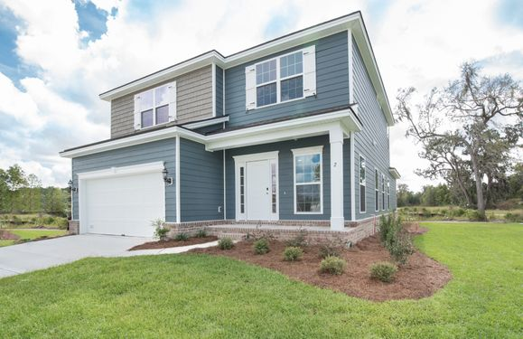 Elevation B with four side water table per community standards:Hatteras Signature