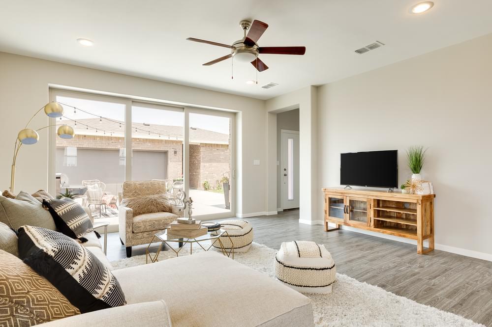 Living Area featured in the Santa Cruz By Esperanza in Rio Grande Valley, TX