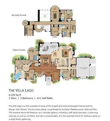 The Villa Lago by Design Tech Homes Plan, Montgomery, Texas 77356 ...