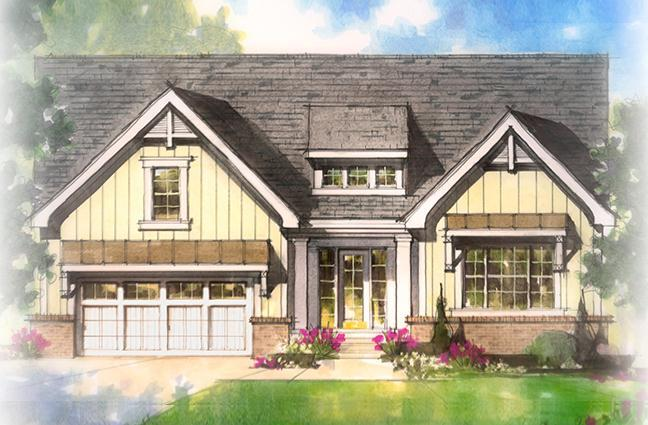 Exterior featured in The Reynolds By Estridge Homes in Indianapolis, IN