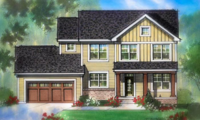 Exterior featured in The Britton By Estridge Homes in Indianapolis, IN