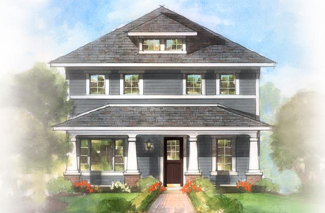 Exterior featured in The Ralston By Estridge Homes in Indianapolis, IN