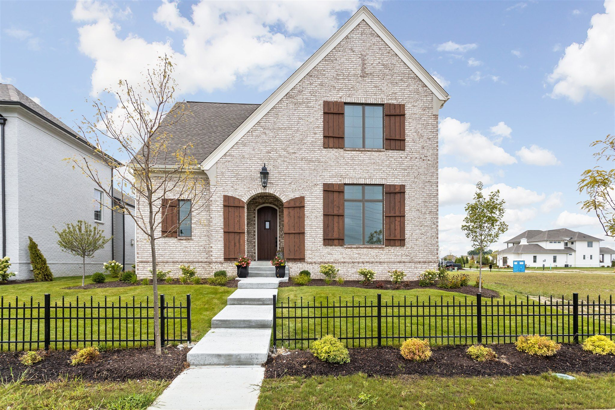 Exterior featured in the Lockerbie 331 By Estridge Homes in Indianapolis, IN