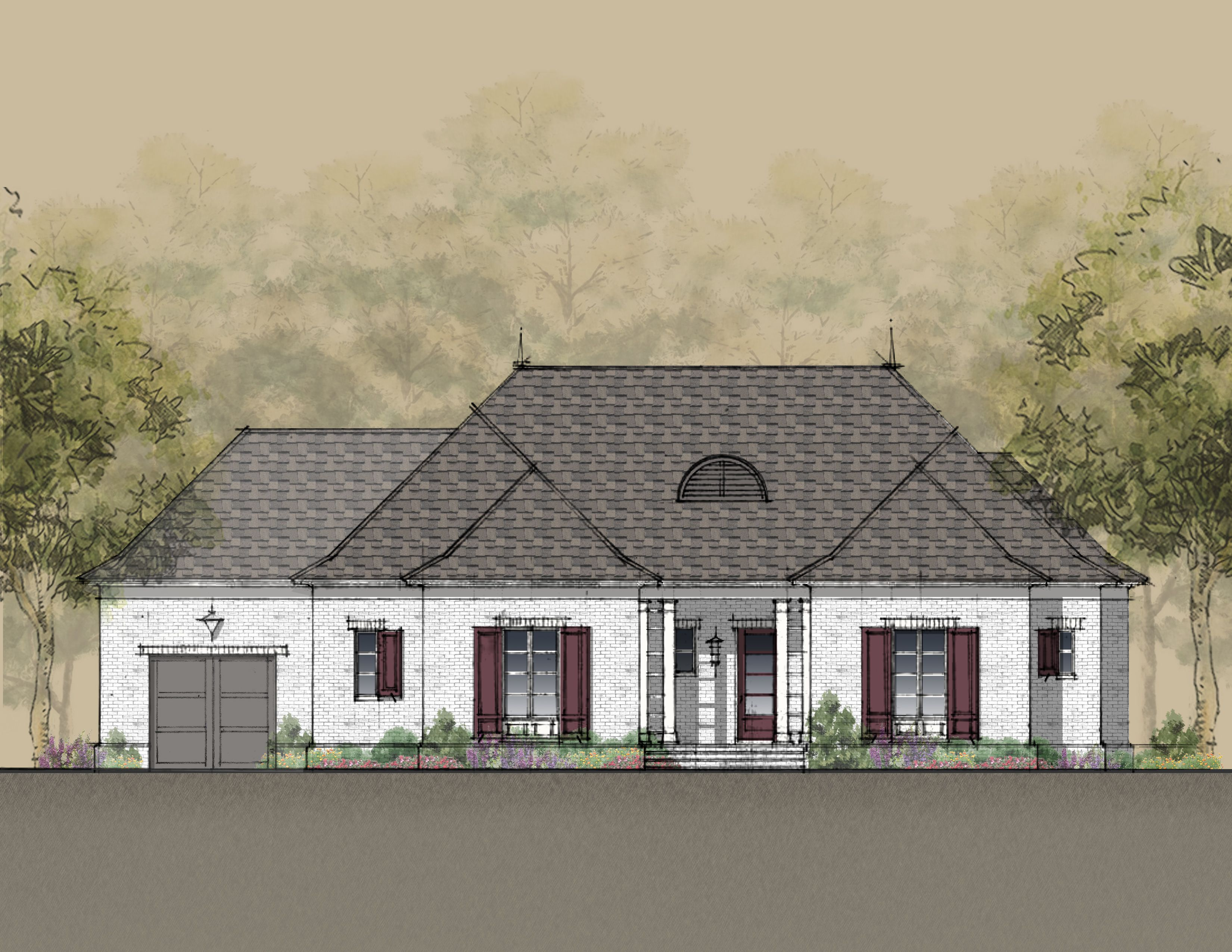 Exterior featured in the Meridian 732 By Estridge Homes in Indianapolis, IN