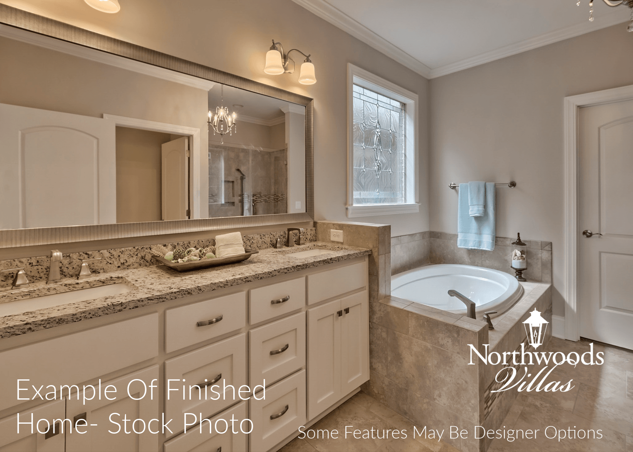 Bathroom featured in the Northwood Villas-Augusta III By Executive Construction Homes