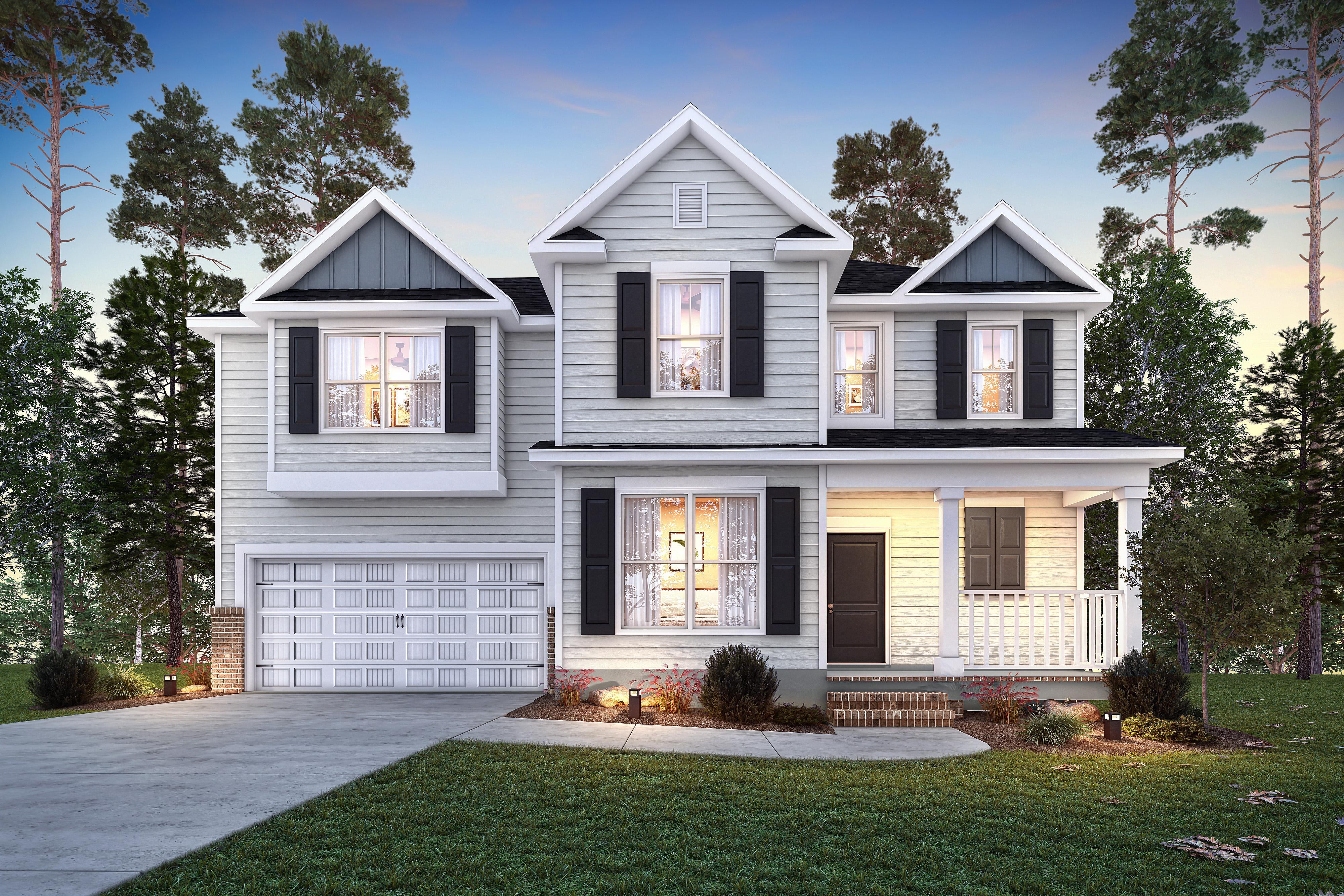 Exterior featured in the Wildwood IV By Executive Construction Homes in Columbia, SC