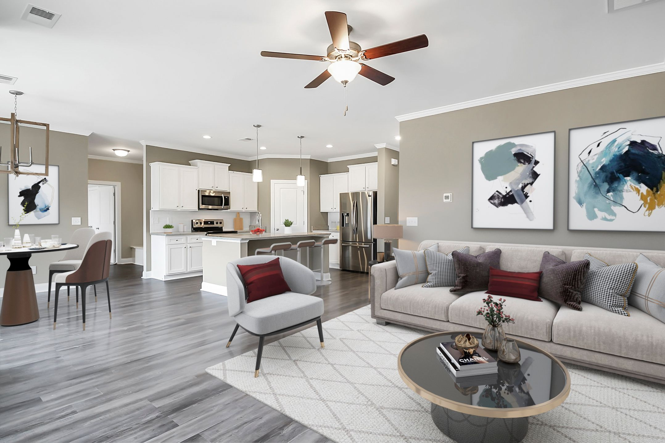 Living Area featured in the Sanctuary V Sidney Walk By Executive Construction Homes in Columbia, SC