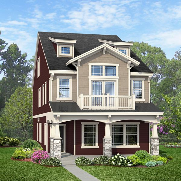 Exterior featured in the Calhoun By ExperienceOne Homes, LLC in Raleigh-Durham-Chapel Hill, NC