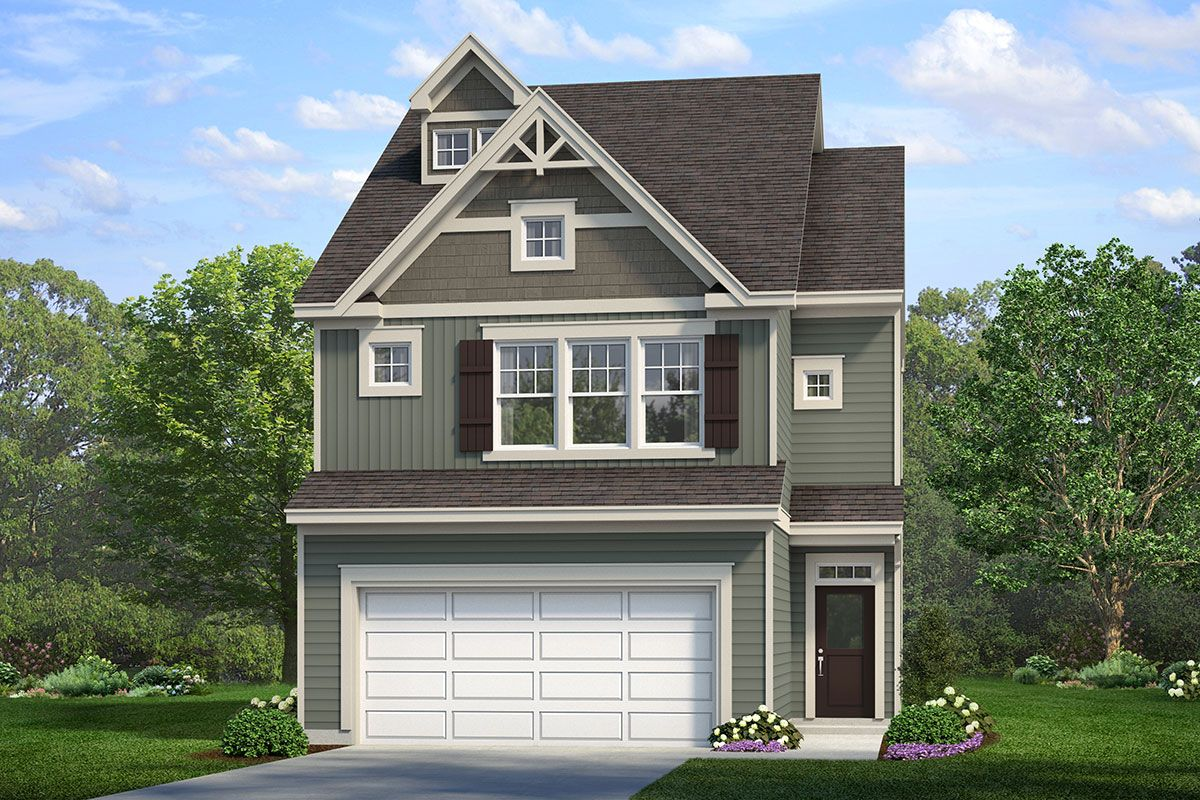 Exterior featured in The Pamlico By ExperienceOne Homes, LLC in Raleigh-Durham-Chapel Hill, NC